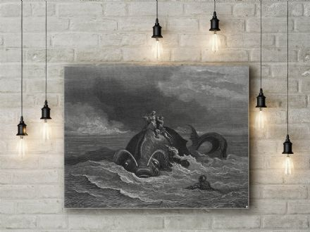Gustave Dore: Orlando Furioso Illustration. Fine Art Canvas.